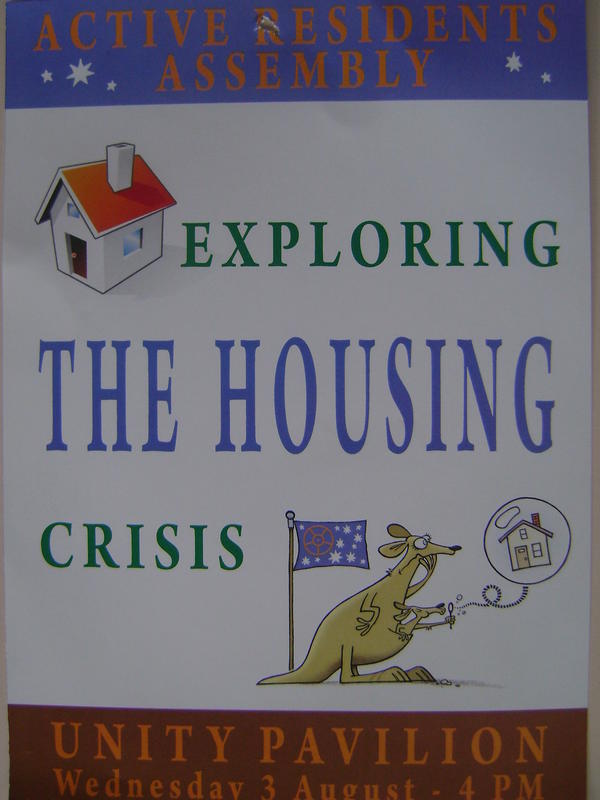 Photographer:web | ARA meeting on WEdnesday 3rd at UP on housing crisis