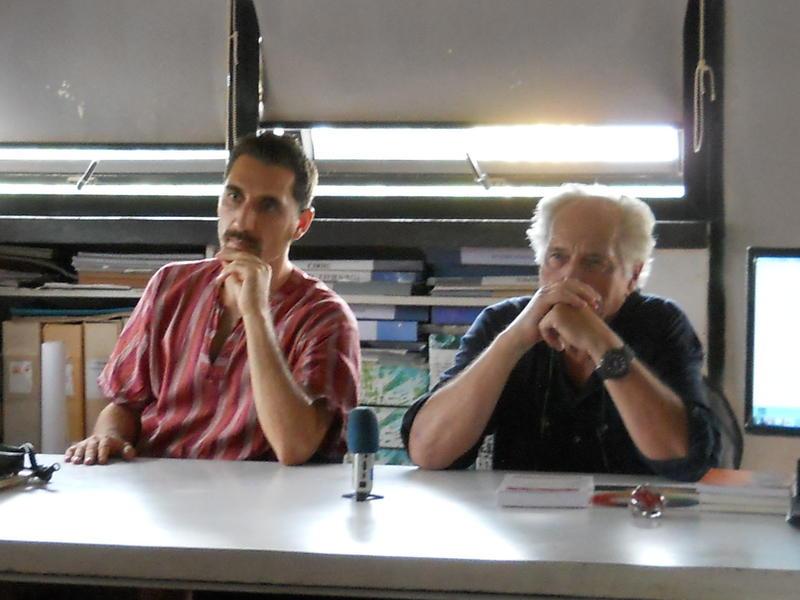 Photographer:David Dinakaran E | Giacomo  and Juergen share the discussion panel