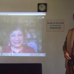Mandakini via Skype has greeted all present, Aryadeep on the right side