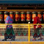 Tibetan praying wheels