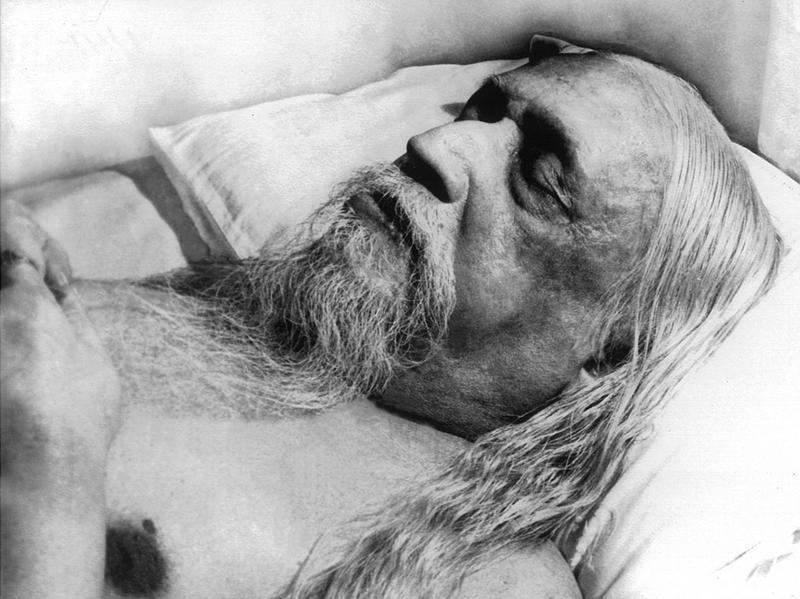Photographer:Ashram Archives | Sri Aurobindo, Mahasamadhi Photo, 5/12/50, the day he left the body.