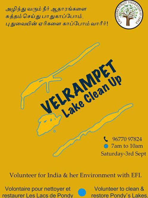 Photographer:web | EFI and Velrampet Lake Clean Up on Saturday 3rd