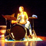 Karina Colin solo on drums