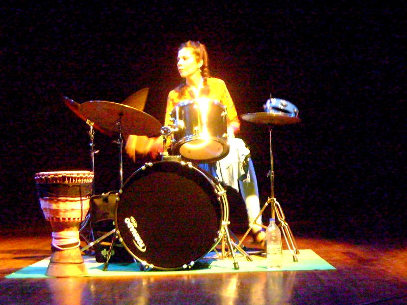 Photographer:Tabitha | Karina Colin solo on drums