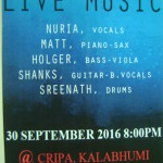 LIVE MUSIC , CRIPA, 30.9. at 8pm