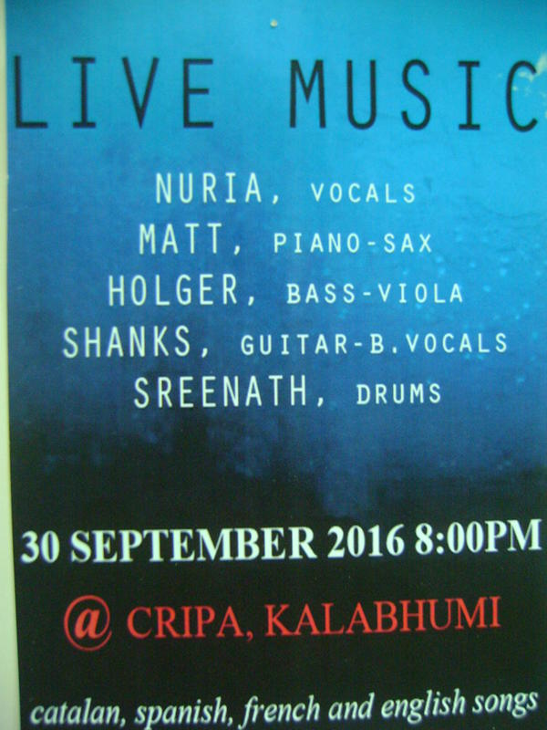 Photographer:web | LIVE MUSIC , CRIPA, 30.9. at 8pm