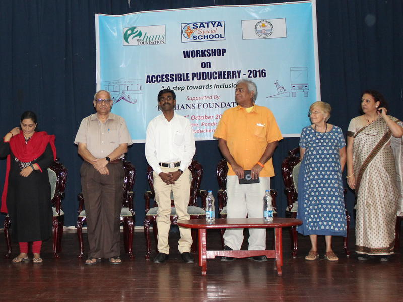 Photographer:Stephen Anurag P | Distinguished Speakers of the Workshop at CCC Hall Pondicherry University