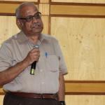A speaker of the workshop