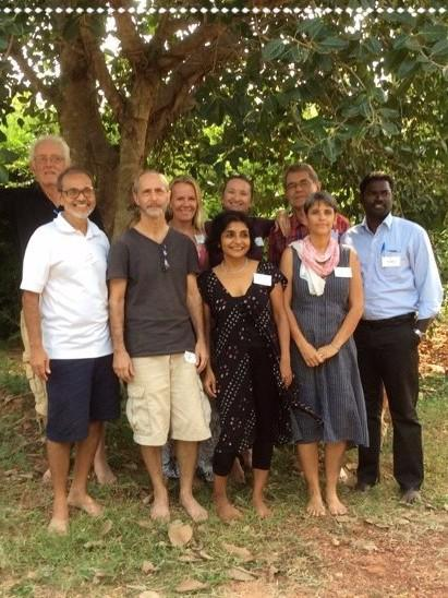 Photographer:Auroville RAS | FAMC  members (from left to right): Yuval, Chandresh, Lyle, Stephanie, Bindu, Chali, Ulli, Amy, Prabhu