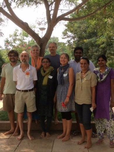 Photographer:Auroville RAS | Auroville Council (from left to right): Marc, Martin, Sandhyra, Mita, Matriprasad, Enrica, Ami, Sundar, Elisa, Renuka
