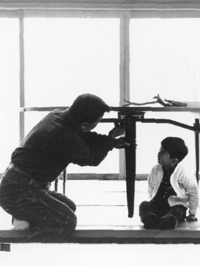 Photographer:web | George Nakashima with one of his children