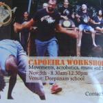Capoeria workshop on Saturday 5th