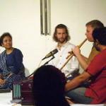 Manisha Joshi and students at Bhavishyate, Baharat Nivas