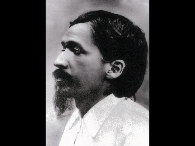 Photographer:Ashram Archives | Sri Aurobindo , 1908, during the Alipore Jail period.