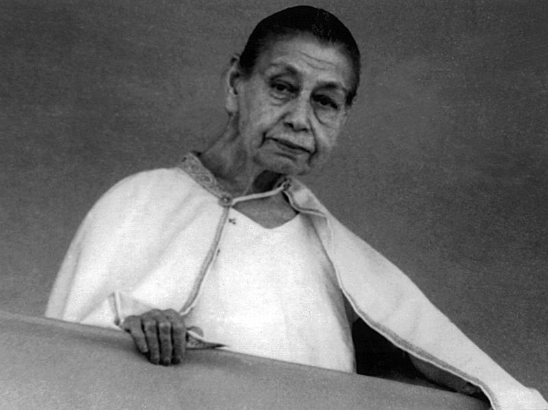 Photographer:Ashram Archives | Mother Giving Darshan - 29/12/67