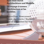 Journey Through Architecture and Models - 7th of December at MMC at 4.30pm