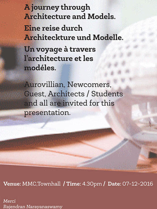 Photographer:web   Journey Through Architecture and Models - 7th of December at MMC at 4.30pm