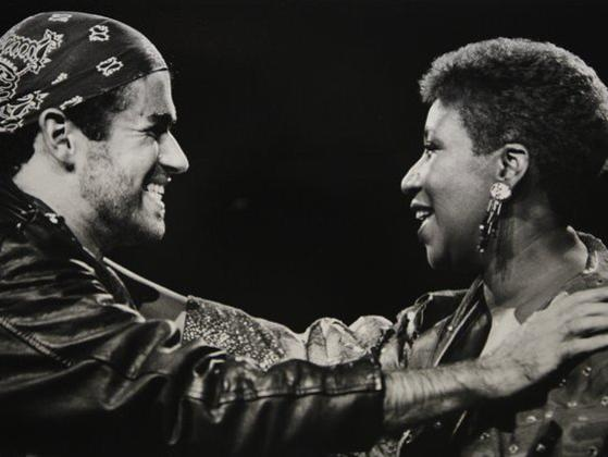 Photographer:web | George Michael  adn Aretha Franklin