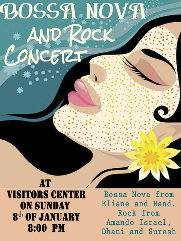 Photographer:web | Bossa Nova, Rock Concert on 8th at Visitor's Centre