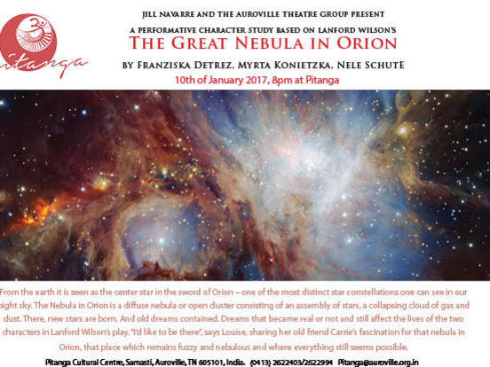 Photographer:Tilia | Tuesday 10th of January at 8pm at Ptianga  a talk on The Great Nebula in Orion