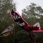 giant butterflies parade with lights