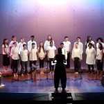 Auroville  Youth Choir led by Nuria, Matthew on keyboard