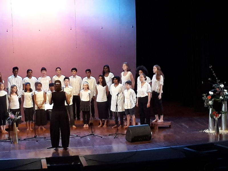 Photographer:Breda | Auroville  Youth Choir led by Nuria, Matthew on keyboard