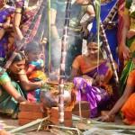 women celebrating  Pongal