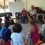 Heidi led an interactive session on democracy in the classroom in Auroville's Teacher Center.