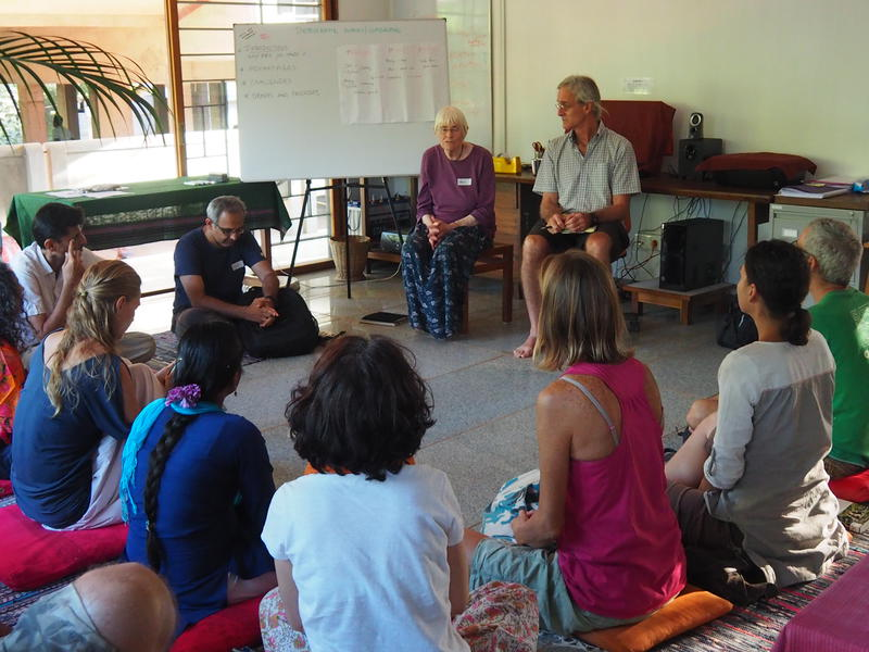 Photographer:Silke | Heidi led an interactive session on democracy in the classroom in Auroville's Teacher Center.