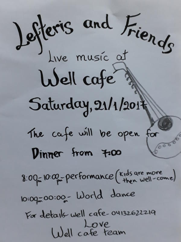 Photographer:Brina | Lefteris and Friends live music at Weel Cafe on Saturday 21st at 8pm