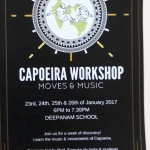 Capoeria workshop for beginners to follow festival on 27,28,29th of Janaury at Deepanam