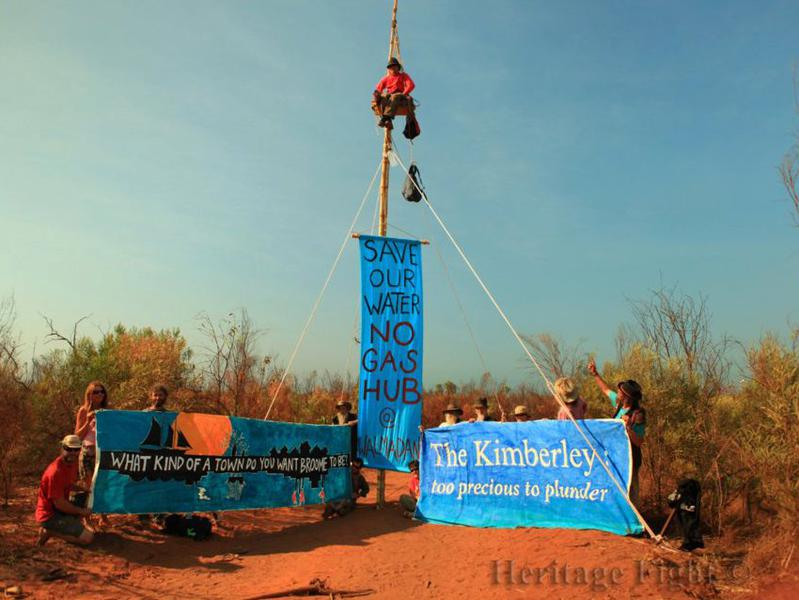 Photographer:Eugenie Dumont | Protests against the world's largest gas plant which was to be built on Aboriginal land in Australia.