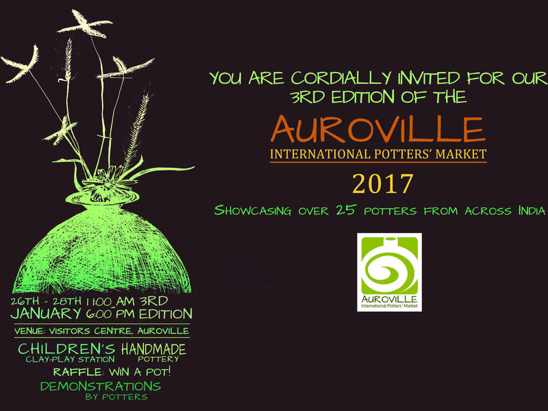 Photographer:web | Auroville International Potters' Market at Visitors' Centre from 26th to 28th