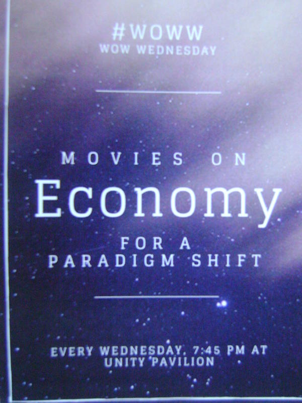 Photographer:Breeda | Films on New Economic Paradigm every Wednesday  at UP