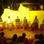 Adishkati Team officially opened the festival with drumming