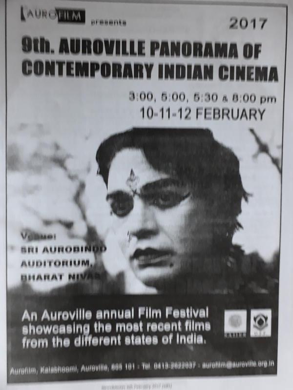 Photographer:Barbara   9th Auroville Panorama of contemporary Indian Cinema