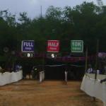 finshing line at Aurodam football field