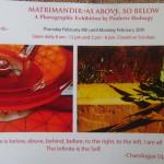 Matrimandir - As Above so Belwo at Pitanga phot exhibition