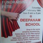 Deepanam School fundraise on 18th