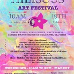 Hibiscus Art Festival At SveDame on 19th from 10am to midnight