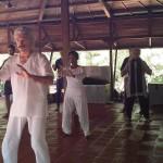 Beginners to Tai-Chi at Sharanga community