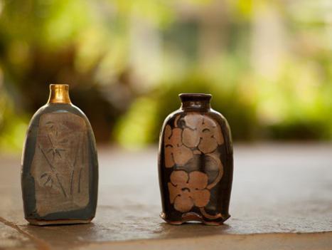 Photographer:web artforland.auroville.org | Twin Bottle Vases by Ange