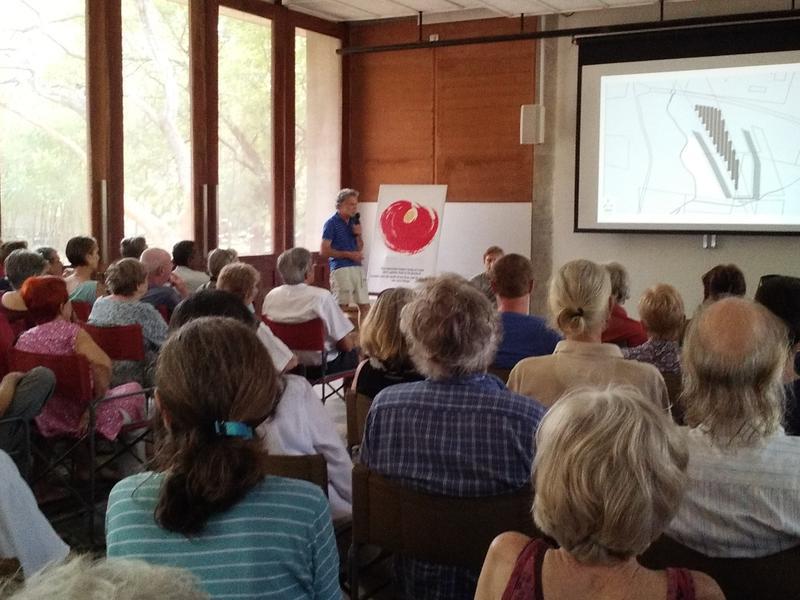 Photographer:Romel | Varuna presenting the solar power plant for Auroville