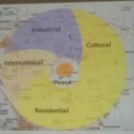 Varuna presenting the solar power plant for Auroville