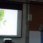 Pankaj Sekhsaria explaining the ecological distribution in Andaman and Nicobar Islands