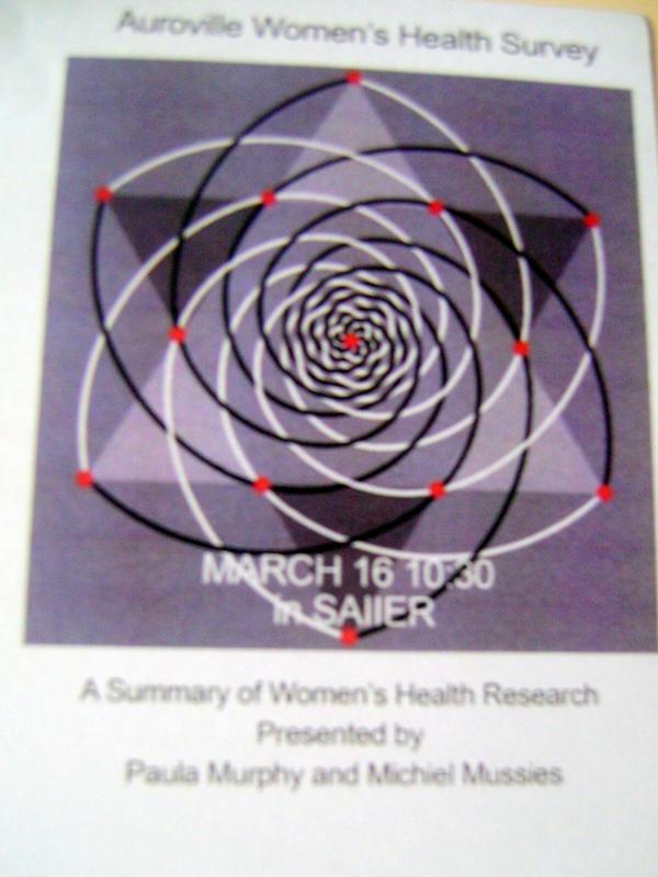 Photographer:Adya | Auroville Women's Health Survey presentation on 16th at 10.30am at SAIIER