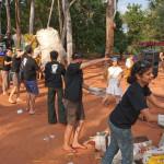 collectining garbage at Litter Free AV 2010
