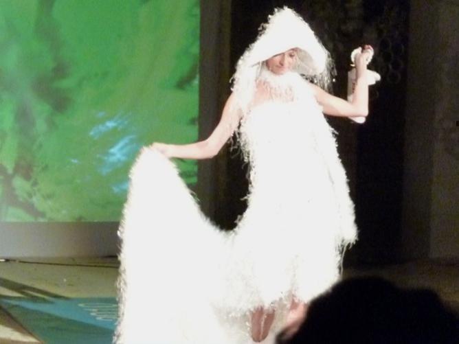 Photographer:web | Litter Free AV 2010 - Trashion Show at VC - wedding dress from white plastic bags