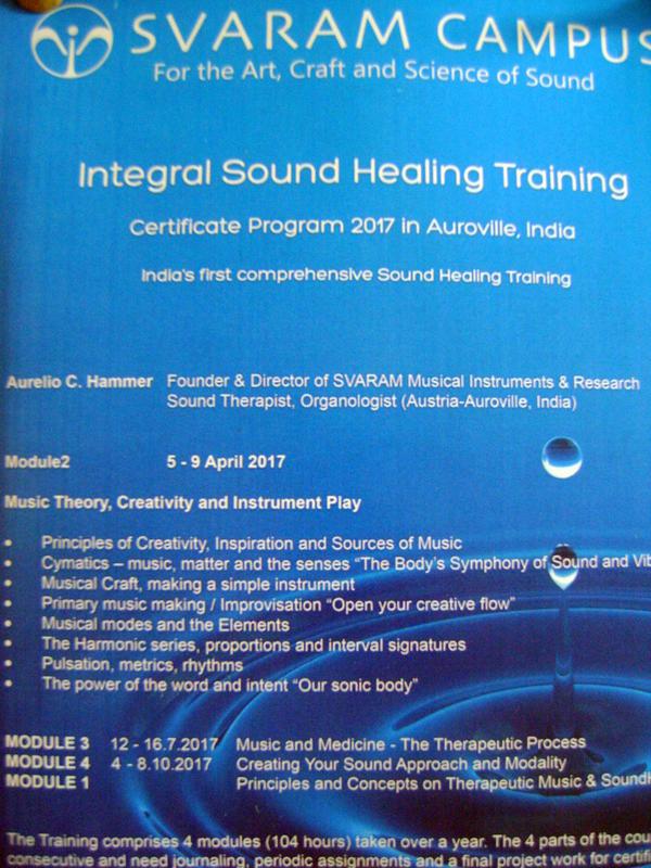 Photographer:yola | Svaram - Intergal Sound Helaing Training